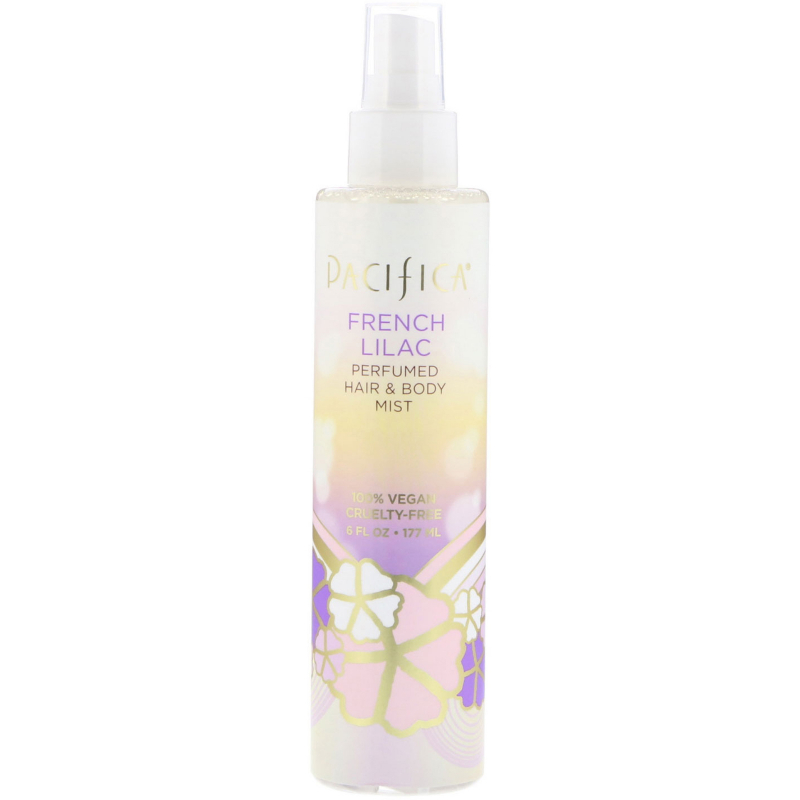 Pacifica, French Lilac Perfumed Hair & Body Mist, 6 fl oz (177 ml)