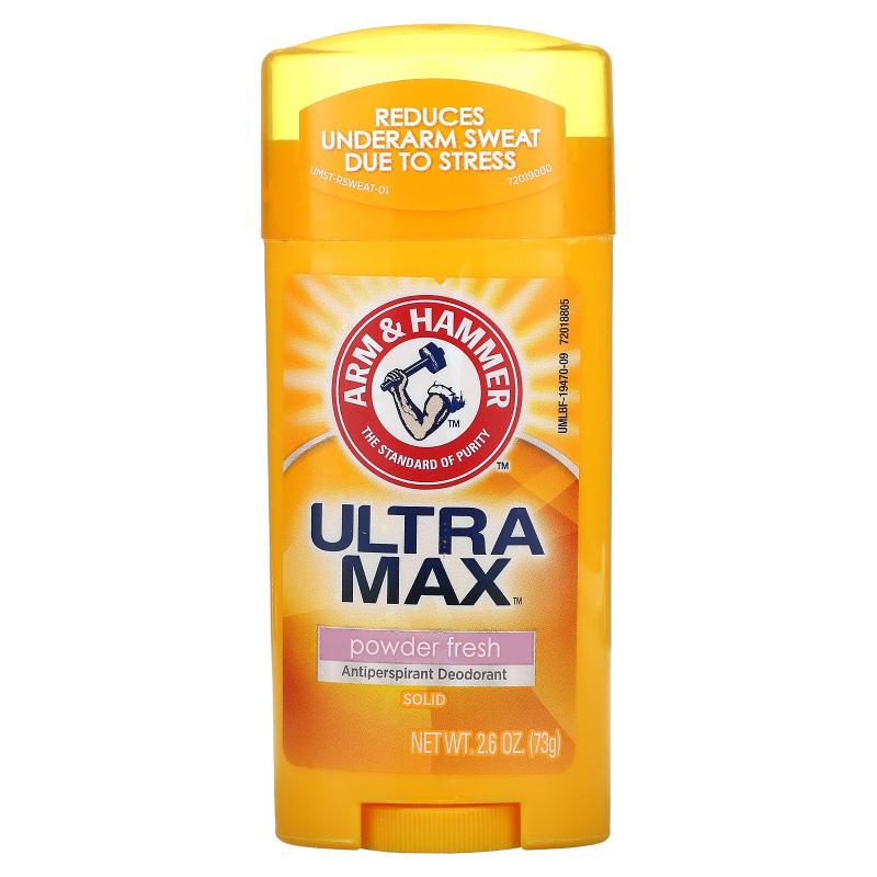 Arm & Hammer, UltraMax, Solid Antiperspirant Deodorant, for Women, Powder Fresh, 2.6 oz (73 g)
