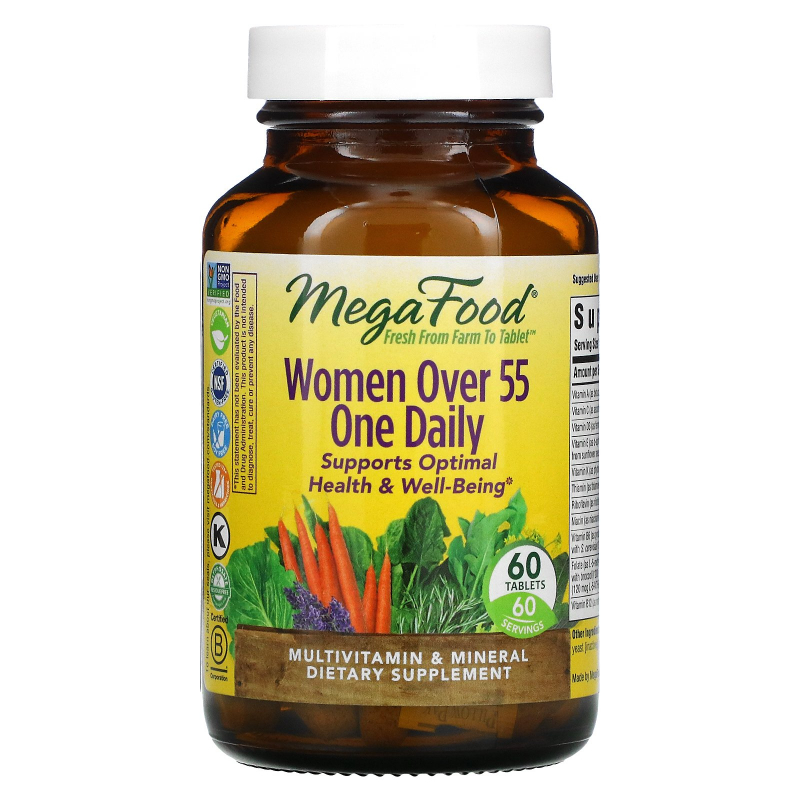 MegaFood, Women Over 55 One Daily, Multivitamin & Mineral, 60 Tablets