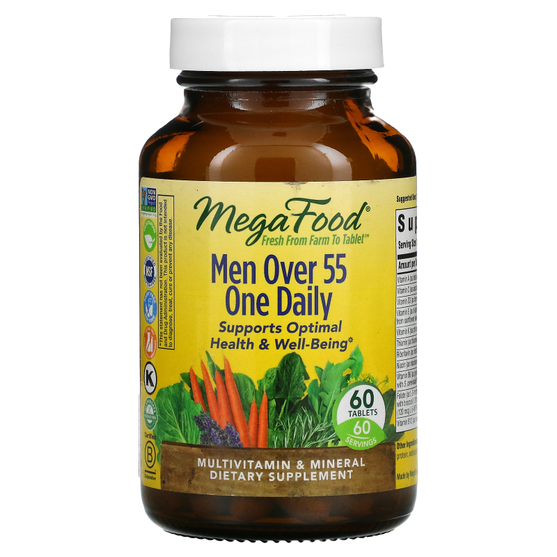 MegaFood, Men Over 55 One Daily, 60 Tablets