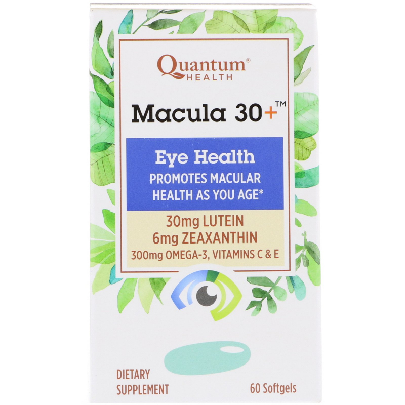 Quantum Health, Macula 30+, Eye Health, 60 Softgels