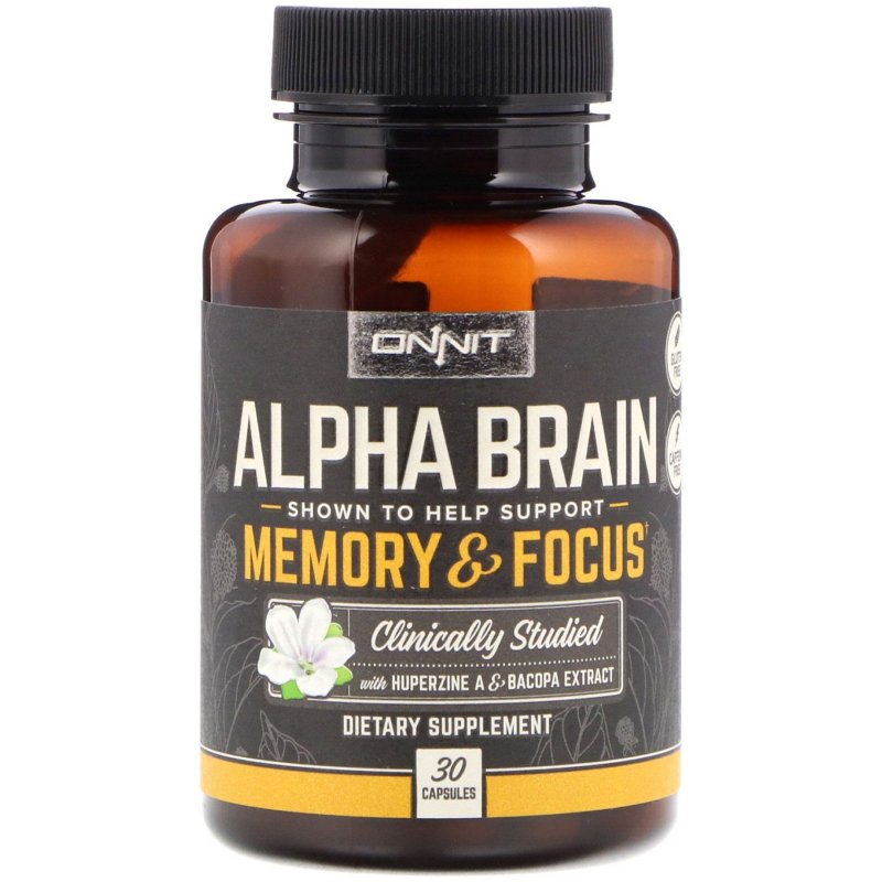 Onnit, Alpha Brain, Memory & Focus, 30 Capsules