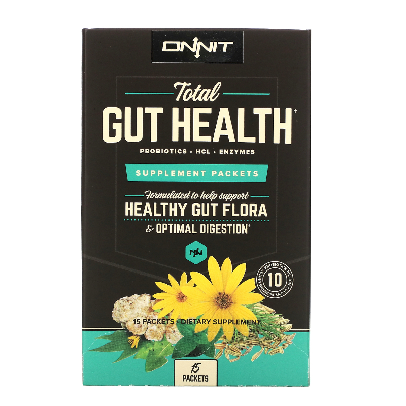 Onnit, Total Gut Health, Supplement Packets, 15 Packets