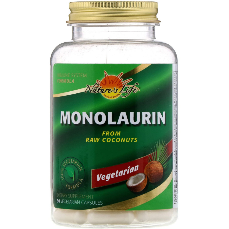 Health From The Sun, Monolaurin, 90 Vegetarian Capsules