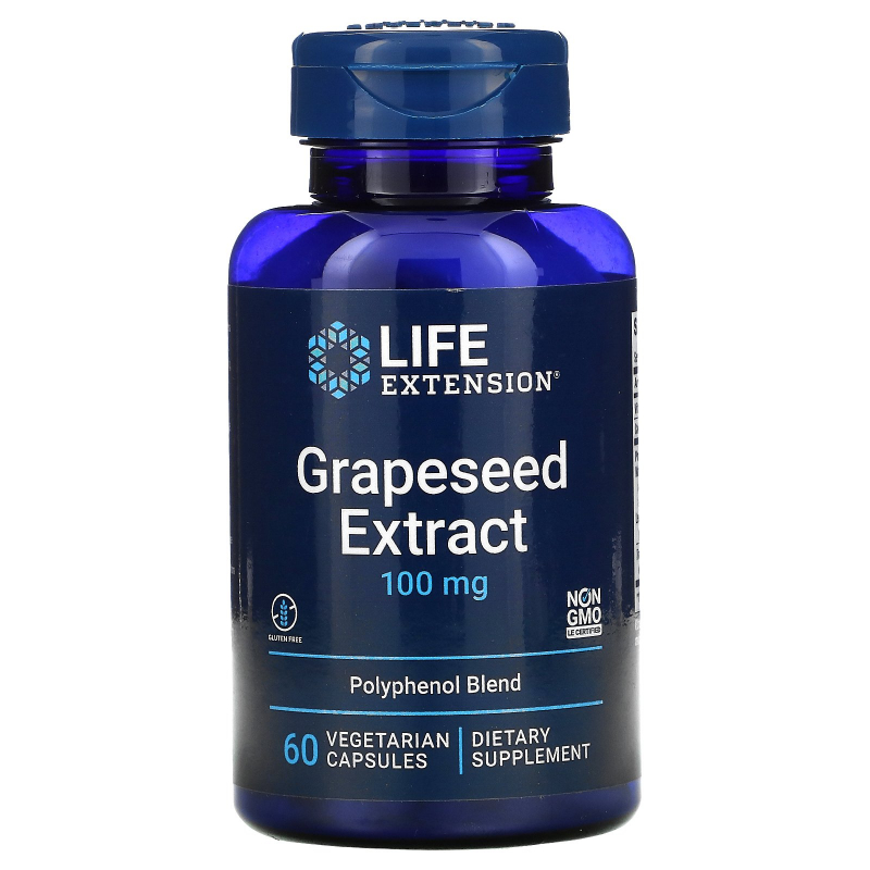 Life Extension, Grapeseed Extract, 100 mg, 60 Vegetarian Capsules