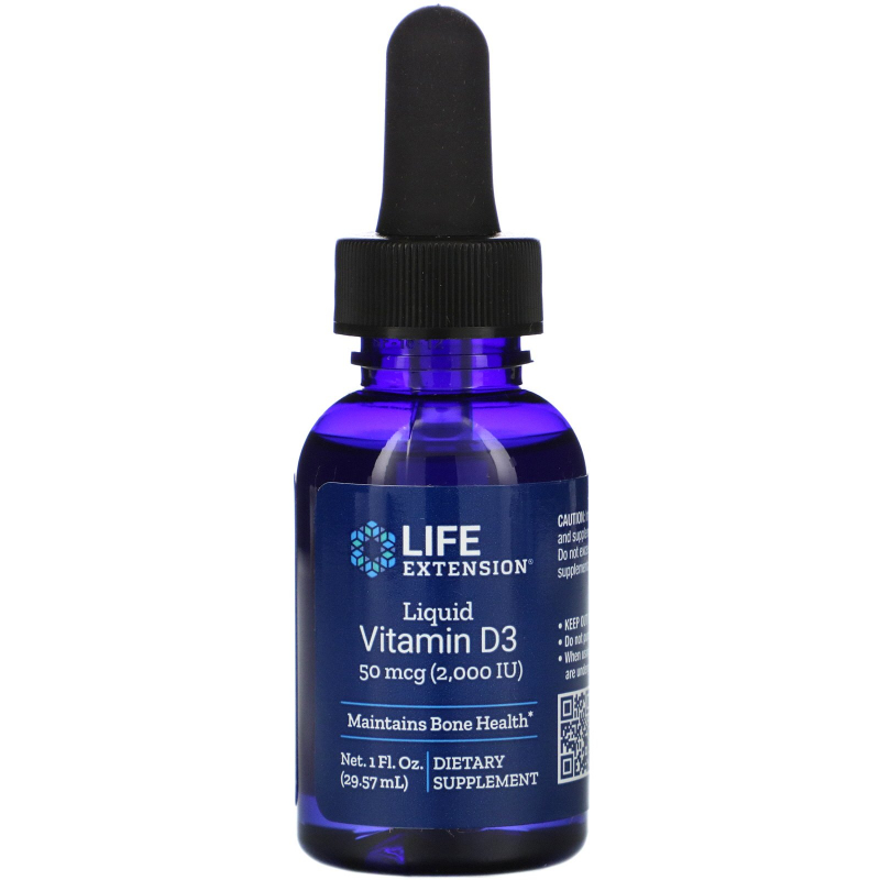 Life Extension, Liquid Vitamin D3, 2000 IU, 1 fl oz (29.57 ml)
