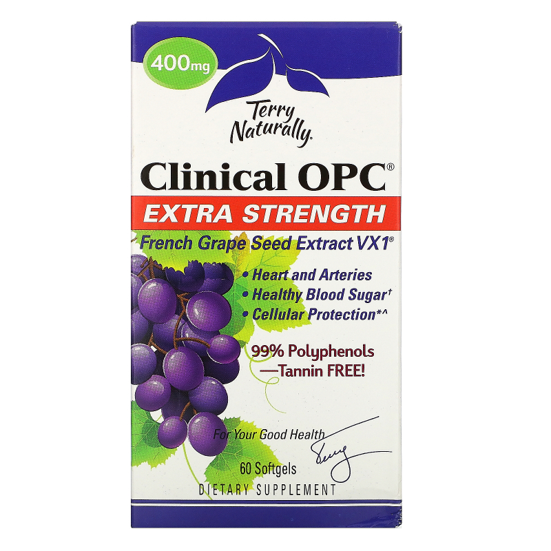 EuroPharma, Terry Naturally, Clinical OPC, Extra Strength, 400 mg, 60 Softgels