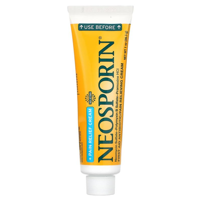 Neosporin, Dual Action Cream, Pain Relief Cream, 1 oz (28.3 g)