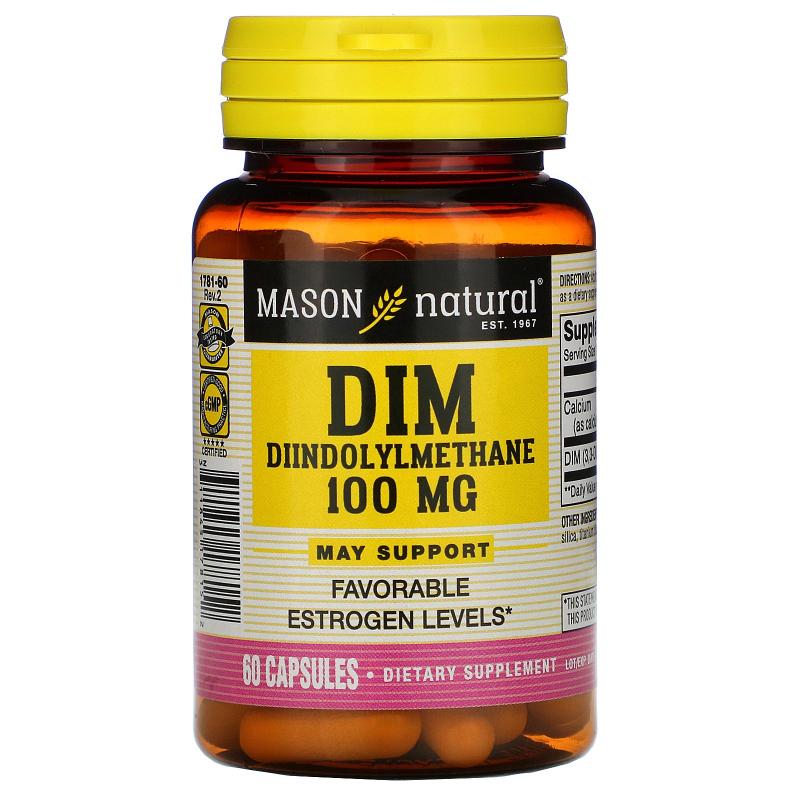 Mason Natural, DIM Diindolylmethane, 100 mg, 60 Capsules