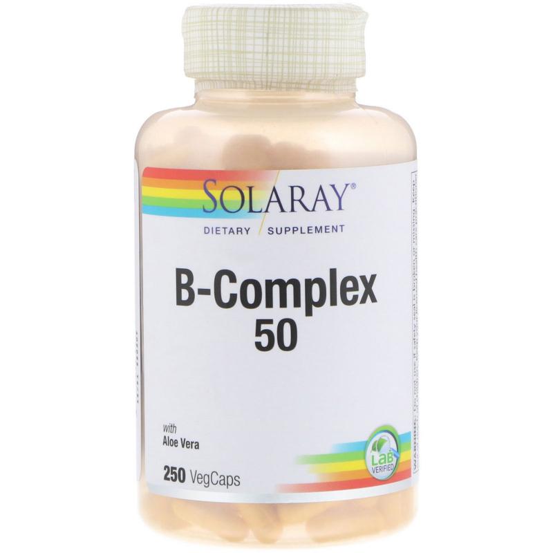 Solaray, B-Complex 50, 250 VegCaps