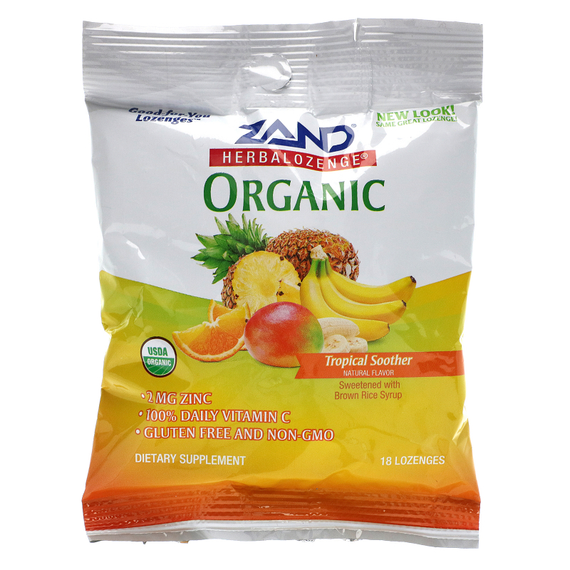 Zand, Organic Herbalozenge, Tropical Soother, 18 Lozenges