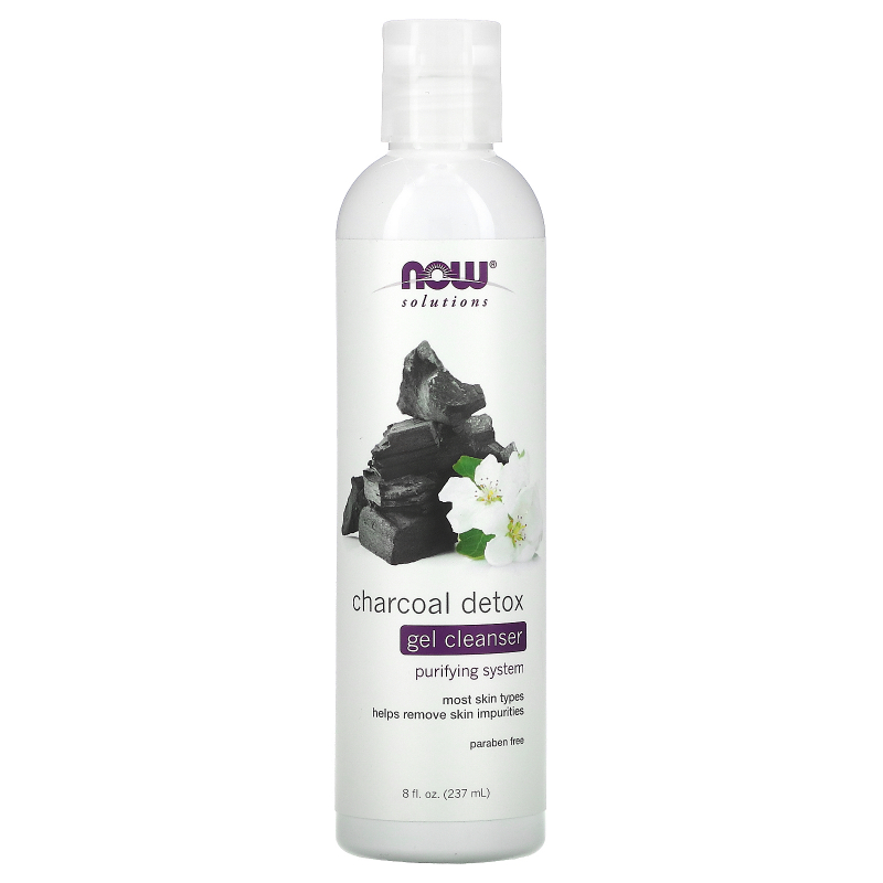 Now Foods, Solutions, Charcoal Detox Gel Cleanser, 8 fl oz (237 ml)