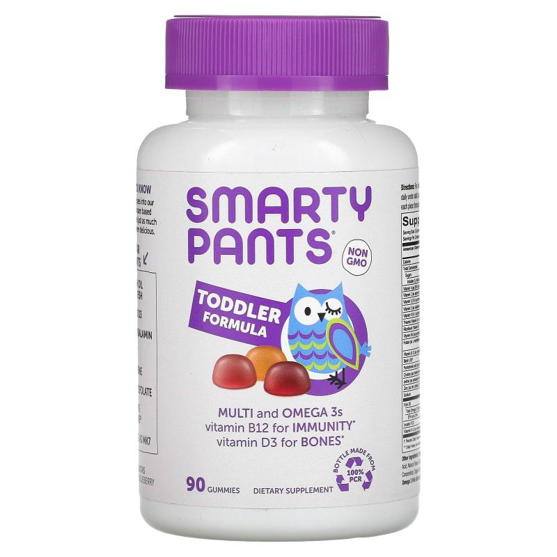 SmartyPants, Toddler Complete, 90 Gummies