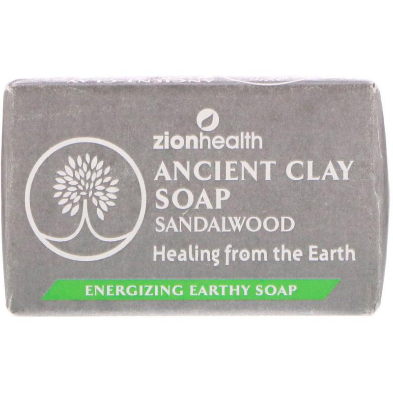 Zion Health, Ancient Clay Soap, Sandalwood, 6 oz (170 g)