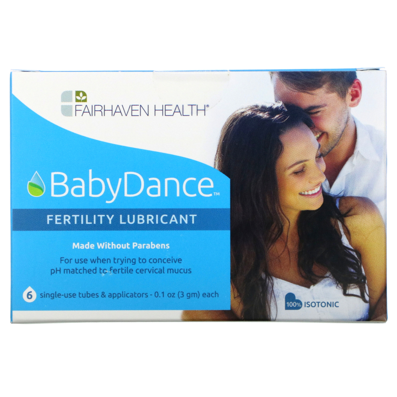 Fairhaven Health, Isolove, BabyDance Fertility Lubricant, 6 Single-Use Tubes & Applicators, 0.1 oz (3 g) Each