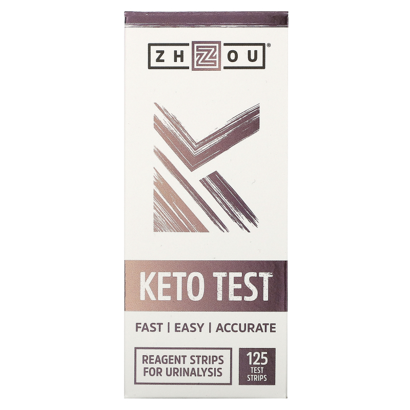 Zhou Nutrition, Keto Test, 125 Test Strips