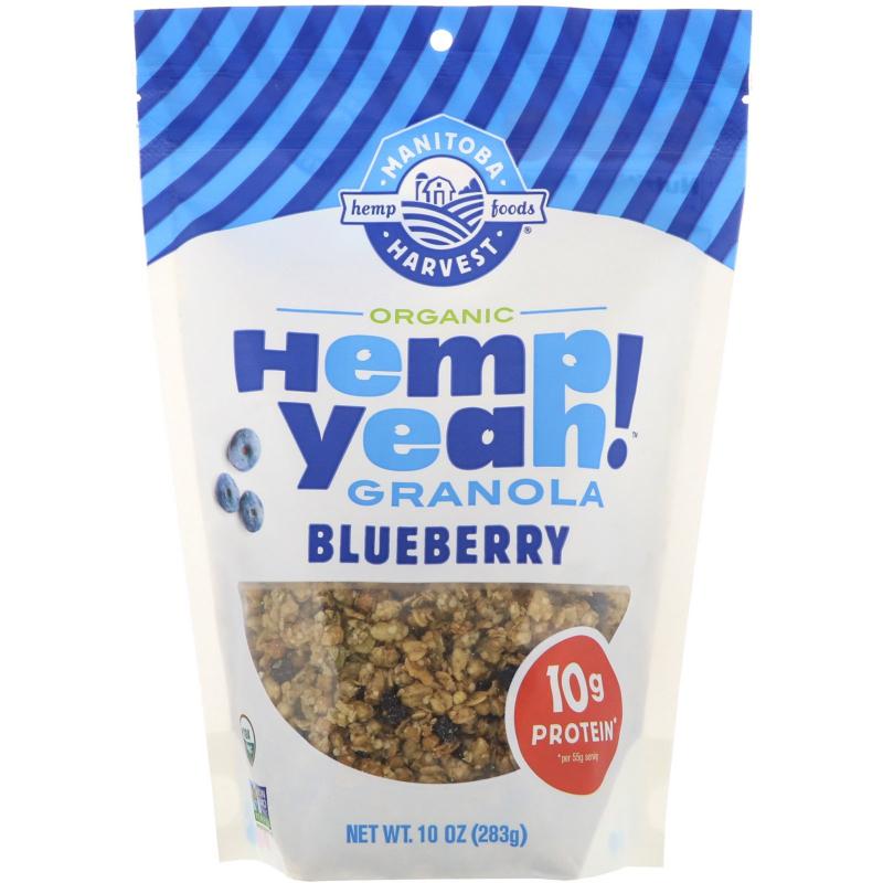 Manitoba Harvest, Hemp Yeah Granola, Organic Blueberry, 10 oz (283 g)