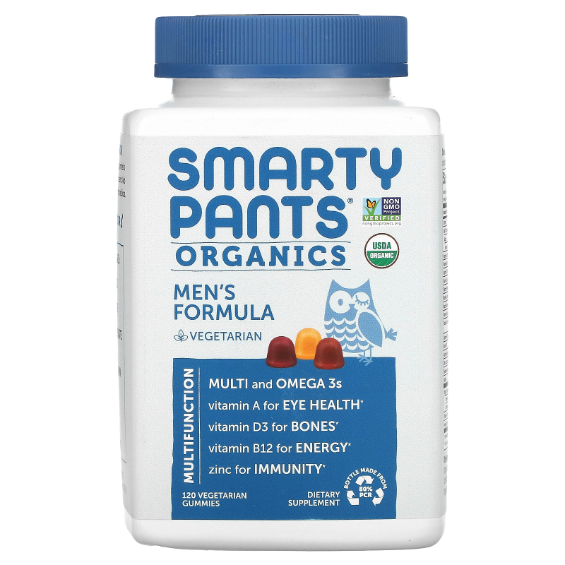 SmartyPants, Organics, Men's Complete, 120 Vegetarian Gummies