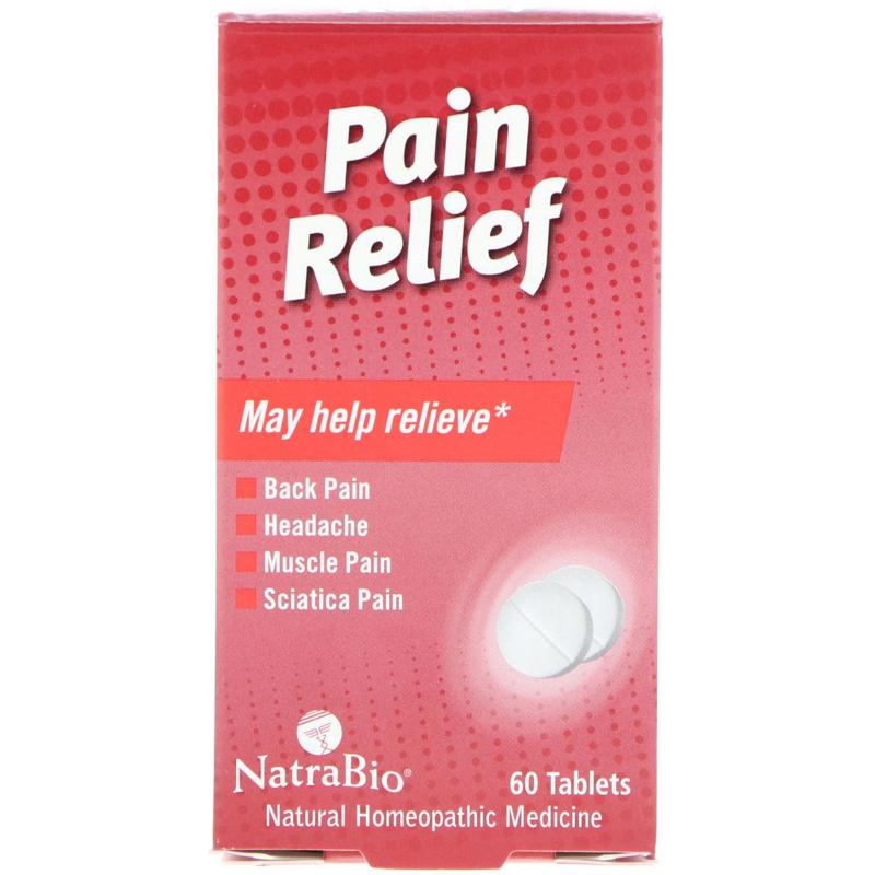 NatraBio, Pain Relief, 60 Tablets