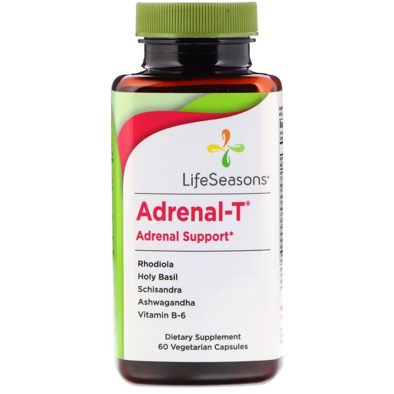 LifeSeasons, Adrenal-T, Adrenal Support, 60 Vegetarian Capsules