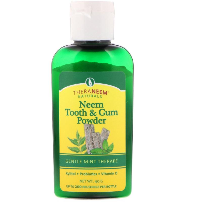 Organix South, TheraNeem Naturals, Neem Tooth & Gum Powder, Gentle Mint Therape, 40 g