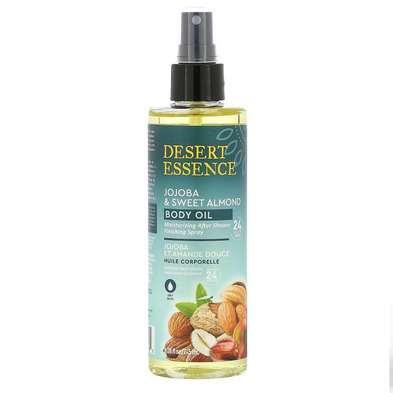 Desert Essence, Jojoba & Sweet Almond Body Oil Spray, 8.28 fl oz (245 ml)