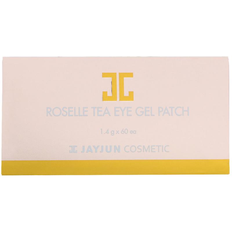 Jayjun Cosmetic, Roselle Tea Eye Gel Patch, 60 Patches, 1.4 g Each