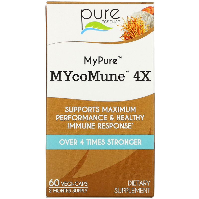 Pure Essence, MyPure, MYcoMune 4X, 60 Vegi-Caps