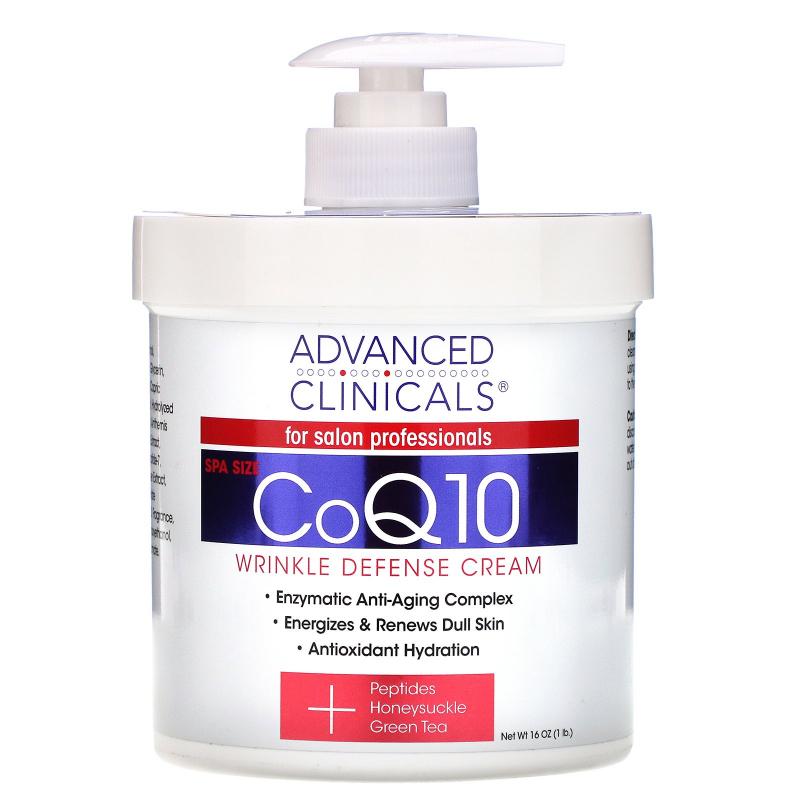 Advanced Clinicals, CoQ10, Wrinkle Defense Cream, 16 oz (454 g)