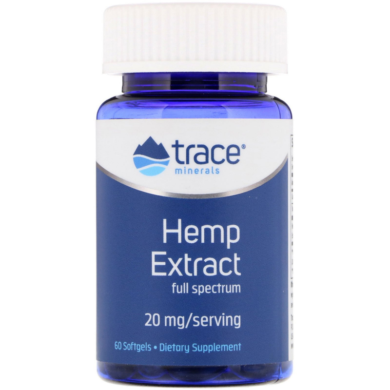 Trace Minerals Research, Hemp Extract, 20 mg, 60 Softgels