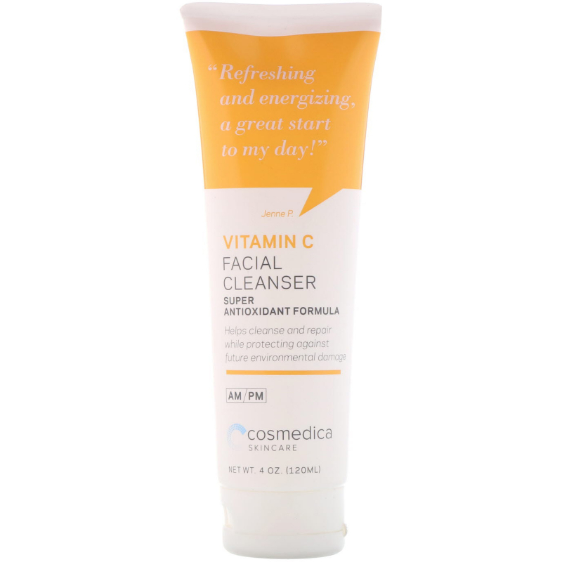 Cosmedica Skincare, Vitamin C Facial Cleanser, Super Antioxidant Formula, 4 oz (120 ml)