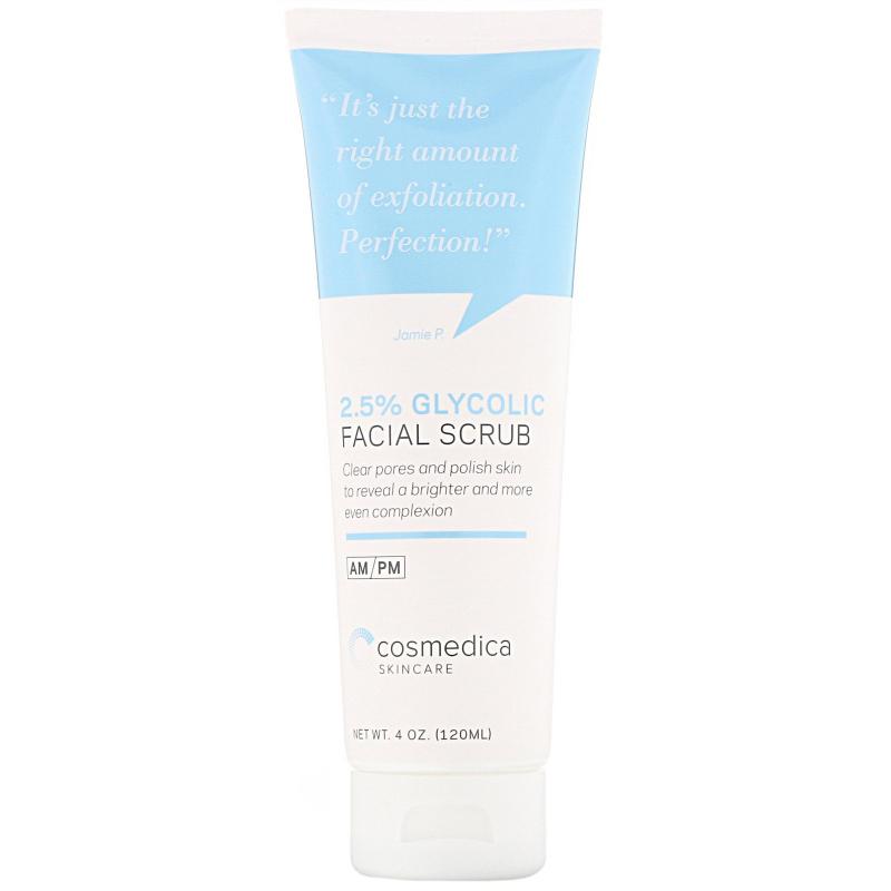 Cosmedica Skincare, 2.5% Glycolic Facial Scrub, 4 oz (120 ml)