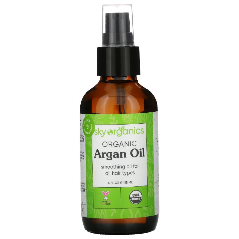 Sky Organics, 100% Pure Organic, Argan Oil, 4 fl oz (118 ml)