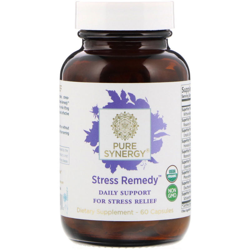 The Synergy Company, Stress Remedy, 60 Capsules