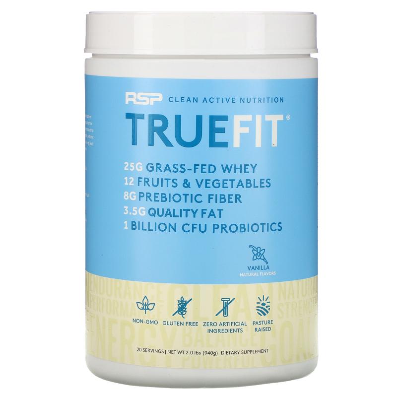 RSP Nutrition, TrueFit, Grass-Fed Protein Shake, Vanilla, 2.11 lbs (960 g)
