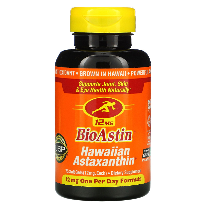 Nutrex Hawaii, BioAstin, 12 mg, 75 Gel Caps