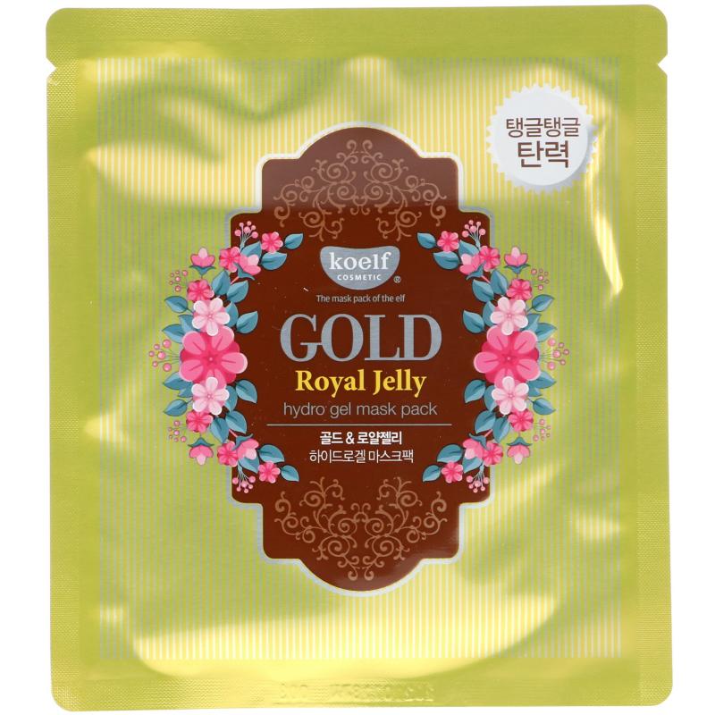 Koelf, Gold Royal Jelly Hydro Gel Mask Pack, 5 Masks, 30 g Each
