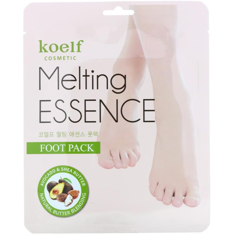Koelf, Melting Essence Foot Pack, 10 Pairs