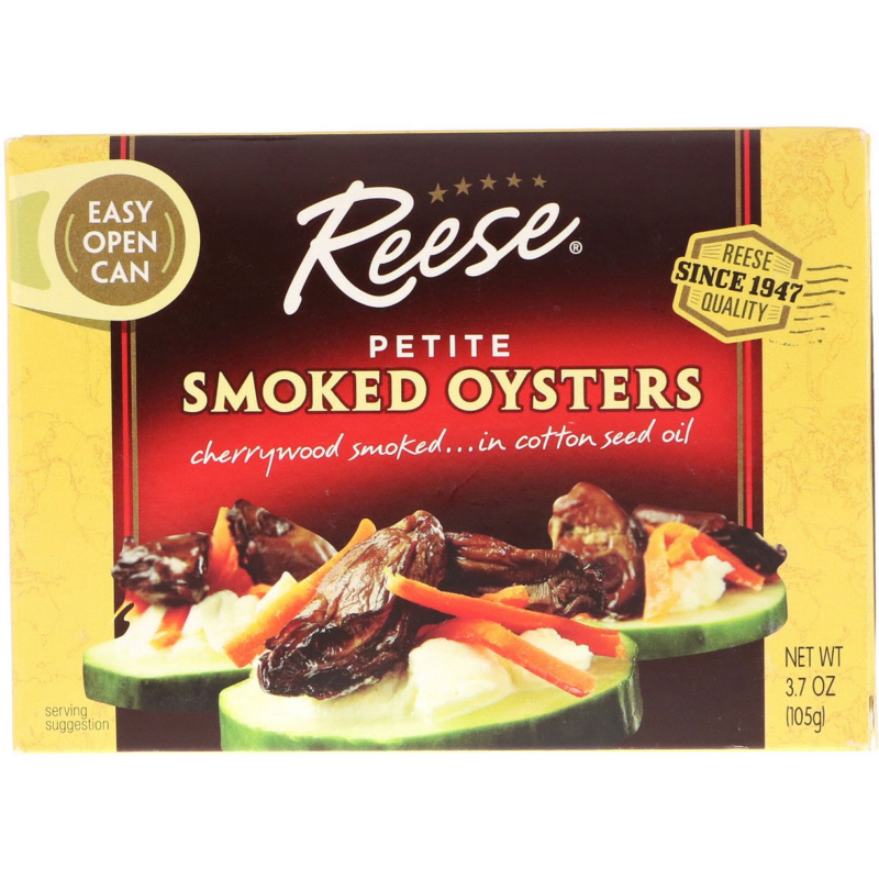 Reese, Petite Smoked Oysters, 3.7 oz (105 g)