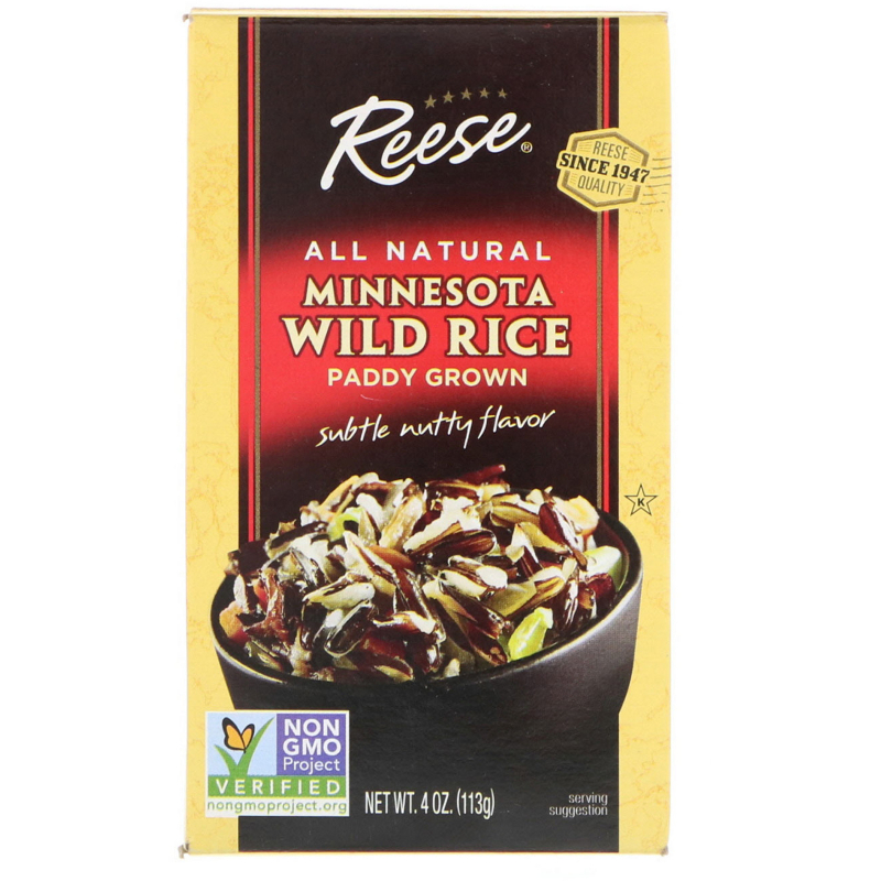 Reese, All Natural, Minnesota Wild Rice, Subtle Nutty Flavor, 4 oz (113 g)