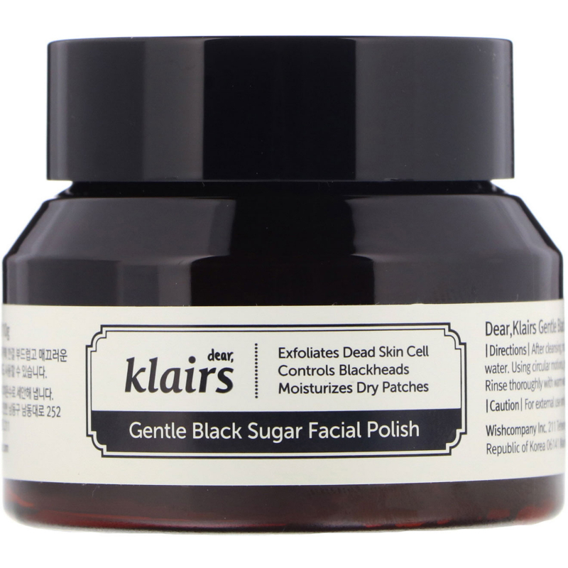 Dear, Klairs, Gentle Black Sugar Facial Polish, 3.8 oz (110 g)
