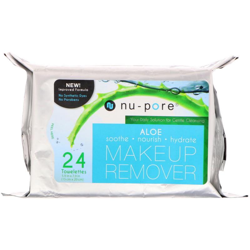 Nu-Pore, Aloe Makeup Remover, 24 Towelettes