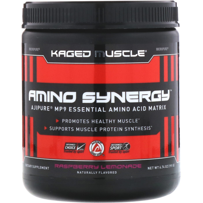 Kaged Muscle, Amino Synergy, Raspberry Lemonade, 6.74 oz (191 g)