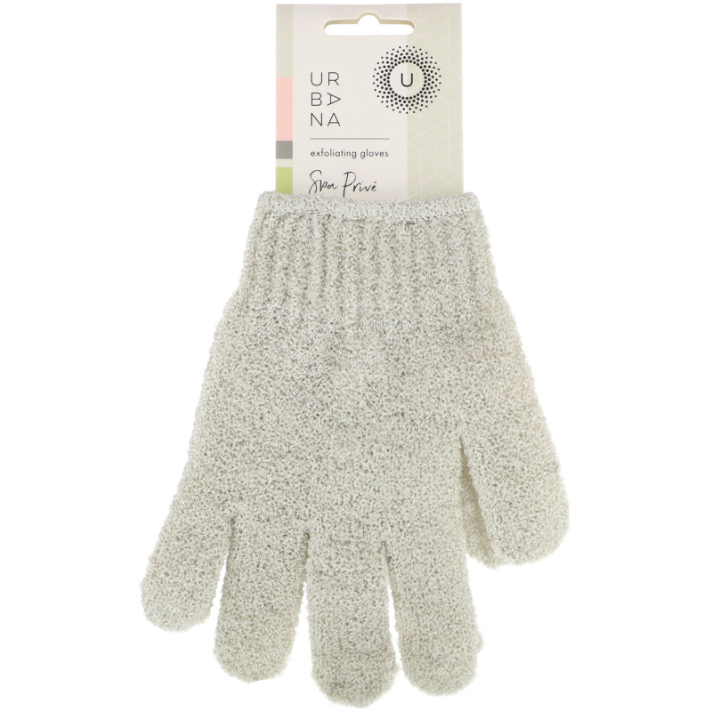 European Soaps, LLC, Urbana, Spa Prive, Exfoliating Gloves, 1 Pair