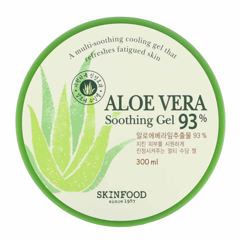 Skinfood, Aloe Vera Soothing Gel 93%, 300 ml