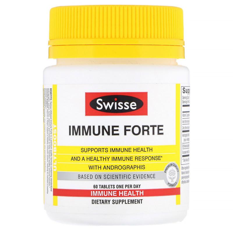 Swisse, Ultiboose, Immune Forte, 60 Tablets