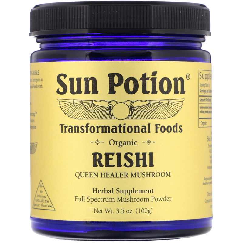 Sun Potion, Organic Reishi Powder, 3.5 oz (100 g)