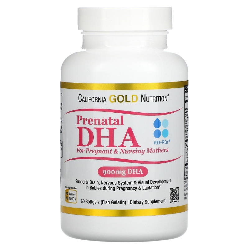 California Gold Nutrition, Prenatal DHA for Pregnant & Nursing Mothers, 900 mg, 60 Softgels