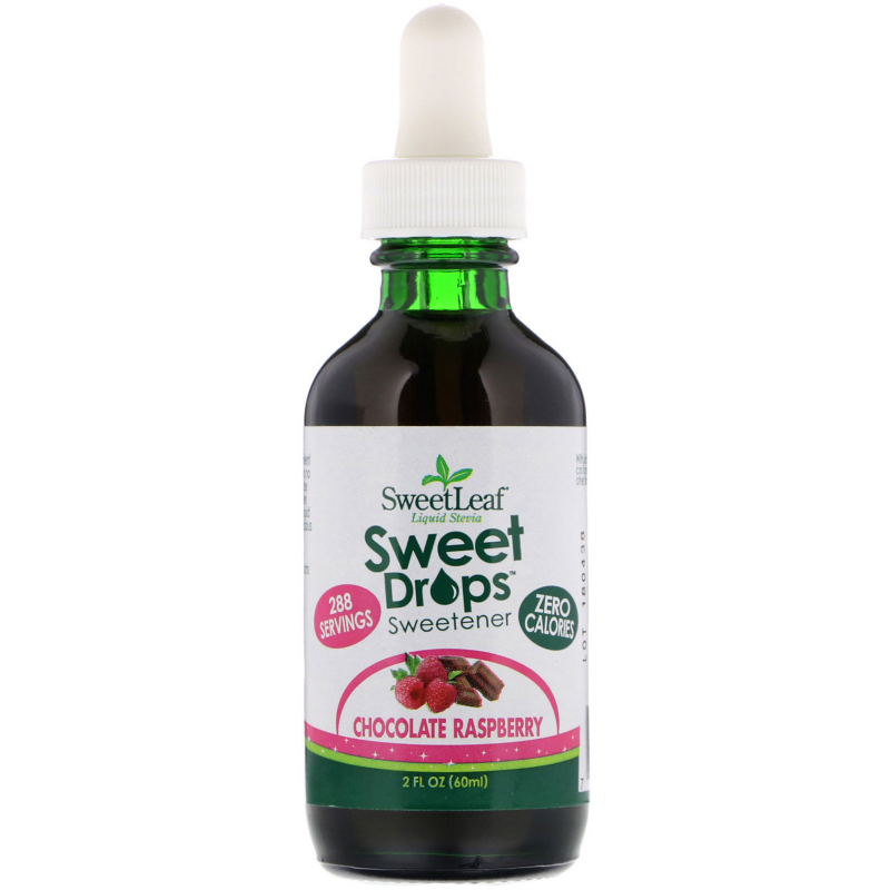 Wisdom Natural, SweetLeaf, Liquid Stevia, Sweet Drops Sweetener, Chocolate Raspberry, 2 fl oz (60 ml)