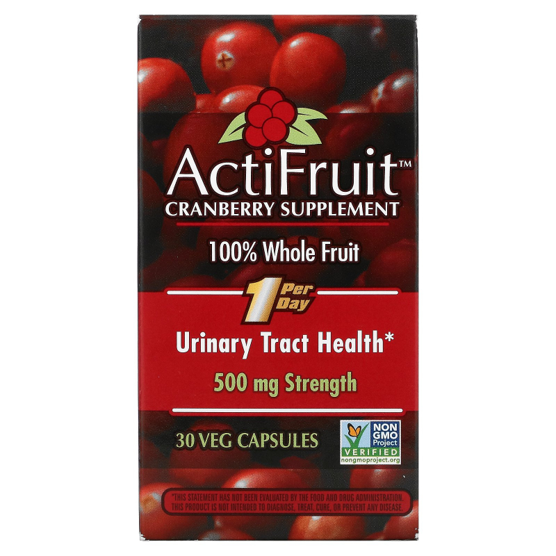 Enzymatic Therapy, ActiFruit Cranberry Supplement, 30 Veggie Caps
